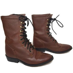 Double H western wear lace up boots mens 5 women 7